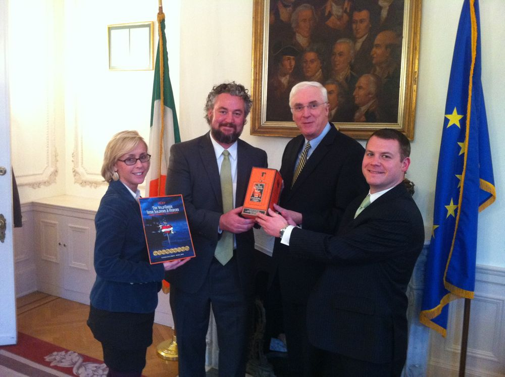 The-Wild-Geese-Irish-Whiskey-Collection-Supports-Hurricane-Sandy-Solidarity-Event-Hosted-by-Ambassador-Michael-Collins-December-2012